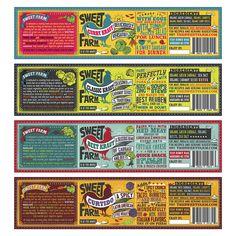 Sweet Farm Sauerkraut — The Dieline #type #packaging #label