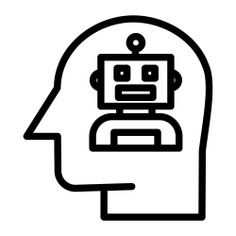 See more icon inspiration related to automaton, futuristic, AI, robotics, brain, artificial intelligence, robot, electronics, industry, education, user, head, gear, cogwheel, connection and technology on Flaticon.