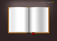 Open notebook with bookmarks Free Psd. See more inspiration related to Template, Books, Notebook, Open book, Open, Psd, Bookmark, Material, Blank, Horizontal, Pages, Bookmarks, Sketchbook, Inside and Inside pages on Freepik.