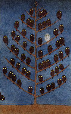 Image Dive 1 - 50 Watts #night #illustration #animal #owl