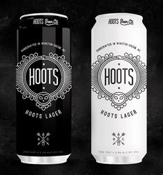 Hoots Beer Cans #beer #packaging