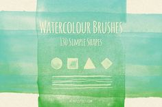 130 Simple Watercolour Brushes - Brushes