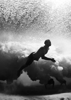 underwater photography #ocean #white #water #black #swimmer #photography #and #waves