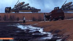 Simon Stålenhag Art Gallery #art #painting #sci #fi #simon stlenhag