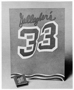 Gallagher's 33, menu, matchbook