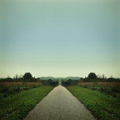 the biking road #tree #sky #road #landscape #photography #bike #mirrored
