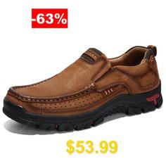 AILADUN #Men #Breathable #Outdoor #Sneaker #Convenient #Slip-on #Hiking #Shoes #Durable #- #BROWN