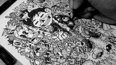 Creative Doodle Art Inspirations by Lei Melandres #doodle art # drawing art