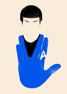 Live Long and Prosper #print #trek #illustration #star #poster