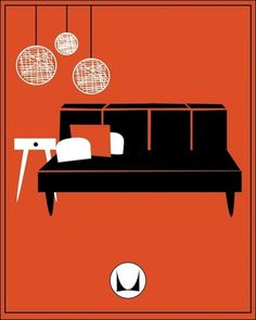 MID CENTURY MODERN DESIGN, Herman Miller Ad, ca. 1955 #miller #design #furniture #1955 #poster #herman