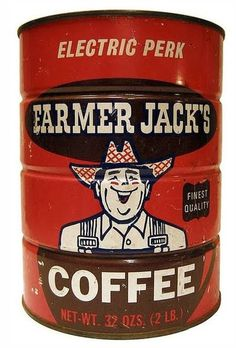 Farmer Jack's Coffee. #packaging #illustration #can #coffee