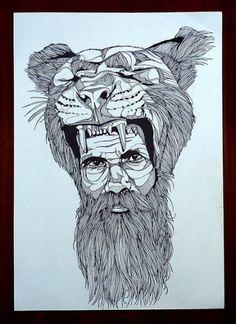 CatHat - 2010 | The BearHug #the #illustration #hat #bear #hug