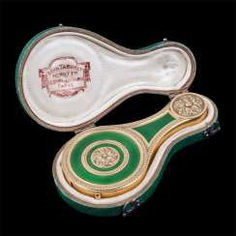 Decorative magnifying glass in box Fa. Boin Taburet