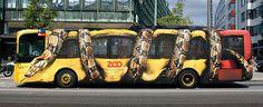 Copenhagen Zoo Bus Wrap #bus #wrap #zoo #snake