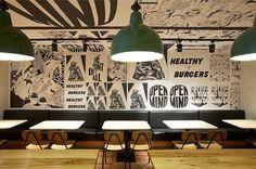 Fabio Ongarato Design | Grill'd #interior #placemaking #graphic #restaurant #illustration #typography