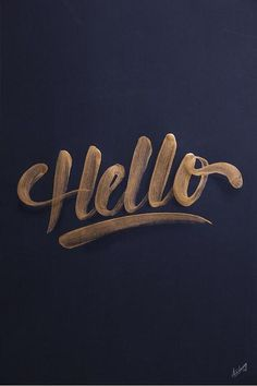 Typeverything.comnHello by Its a living. #typography #type #sketch #typo #hello