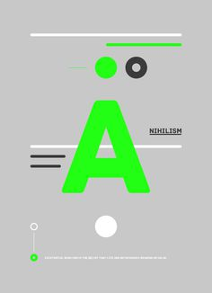 Nihilism #design #type #poster #shape #man #human #nihilism