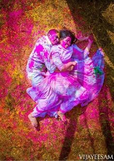 Overload the Cuteness - pre wedding shoot ideas in holi