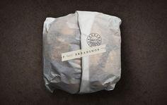 Scott Naauao #design #typography #logo #packaging #bread #food #paper