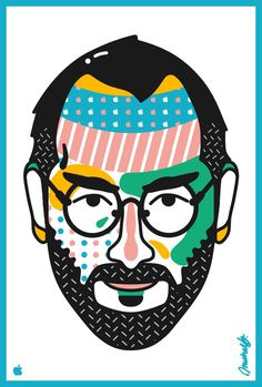 Jobs #steve #apple #pattern #pop #arnold #design #jobs #illustration #portrait #art #michael