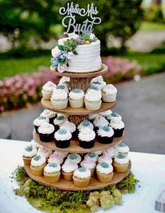 wedding cupcake-cake design