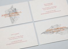 Graphic-ExchanGE - a selection of graphic projects #business card #copper