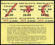 UNTITLEDmagazine #woodstock tickets #august 15 1969