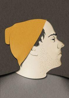 Eiko Ojala » Portraits #papercut #portrait