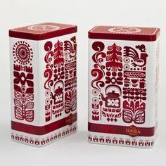 gorgeous folk art inspired coffee packaging