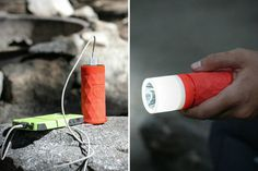 The Buckshot Pro is a portable speaker, power bank, and flash light tool – an essential item when going on vacation, or to keep on hand fo