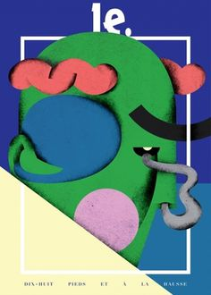 Martin Nicolausson : Here's what's new #graphic #illustration #combo #face #colour