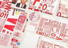 Tsto | Flow Festival 2011 #white #red #branding #stationary #festival #flow #identity #logo