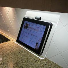 Kitchen iPad Holder #tech #flow #gadget #gift #ideas #cool