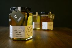 ** DEDass ** The Sheffield Honey Company ** #packaging #identity