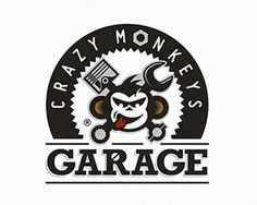 crazy monkeys #logo #branding #vector #monkey #garage