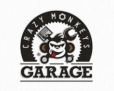 crazy monkeys #vector #branding #garage #monkey #logo
