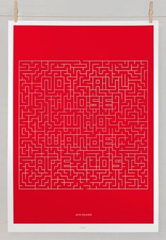 Editions of 100 — NOT ALL THOSE WHO WANDER #100 #maze #tolkien #those #design #all #not #who #wander #poster #type