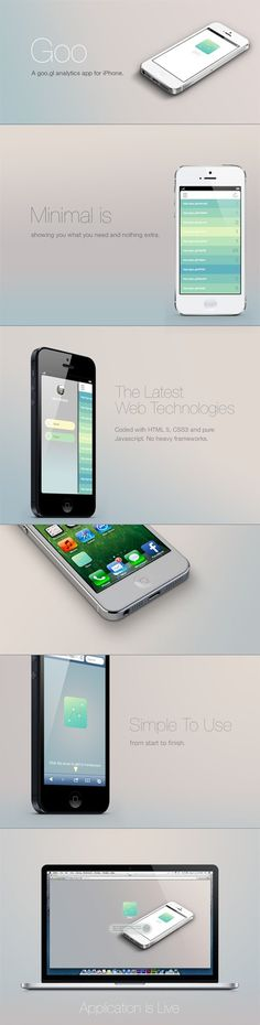 http://www.behance.net/gallery/Goo-App/10214263 #webapp #iphone #app #mobile #minimal #ios