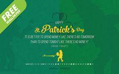 Free St Patrick's Day Wallpaper Download, #graphicdesign #wallpaper #design #stpatricksday