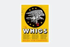 whigs 14 #poster #illustration #gig #texture