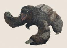 ambush_sloth_finalweb.jpg 1,600×1,142 pixels #sloth #drawing