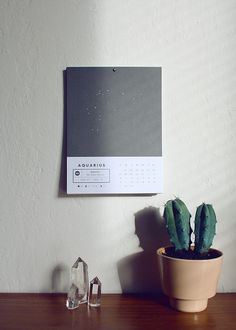 2013 Astrology Wall Calendar #print #astrology #aquarius #poster