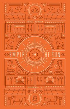 Empire of the Sun Poster #poster #empire of the sun #hieroglyphics #egyptian #egypt #sun