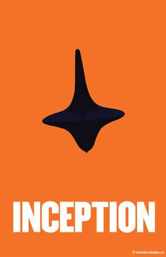 minimalist poster for the movie Inception
