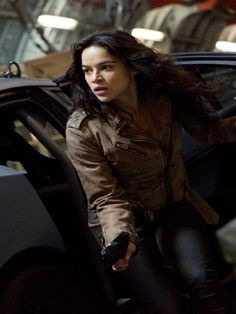 Happy Birthday Michelle Rodriguez, She Looked Stunning and Courageous in this Brown Suede Leather Jacket as Letty Ortiz in action Movie Fast And Furious 6. #happybirthdaymichellerodriguez #lettyortiz #fast6 #fastandfurious6 #furious6 #fastandfurious #lettyortizjacket #michellerodriguezjacket #sale2k19