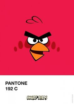 Angry Birds Pantone by Filipe Marcus | 123 Inspiration #birds #angry