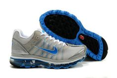 Mens Air Max 2009 Silver White Blue Shoes #shoes