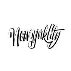 NYC Citylogo | @spencerventure | spencerventure.com #lettering #handdrawn #logo #letterforms #penandink #ink #digital #blackandwhite #brush