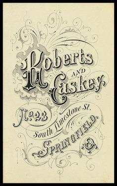 Roberts and Caskey | Sheaff : ephemera