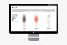 Akin by Alphabet #website #web design